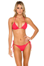 TRIANA - Triangle Top & Wavey Ruched Back Brazilian Tie Side Bottom • Rojo