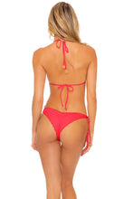 TRIANA - Triangle Top & Wavey Ruched Back Tie Side Bottom • Flamingo