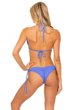 TRIANA - Triangle Top & Wavey Ruched Back Tie Side Bottom • Marina