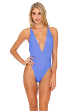 TRIANA - Deep V Crossed Back One Piece • Marina