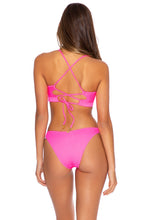 TRIANA - Underwire Top & High Leg  Bottom • Neon Pink