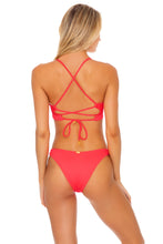 TRIANA - Underwire Top & High Leg  Bottom • Flamingo