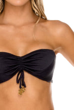 TRIANA - Bandeau Top & Reversible Zig Zag Open Side Moderate Bottom • Black