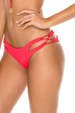TRIANA - Bandeau Top & Reversible Zig Zag Open Side Moderate Bottom • Rojo