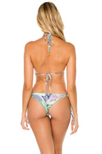 DYNASTY - Triangle Top & Wavey Ruched Back Brazilian Tie Side Bottom • Marino