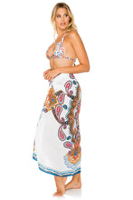 MAESTRANZA - Triangle Halter Top & Pareo • White