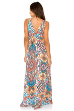 MAESTRANZA - V Neck Long Dress • White