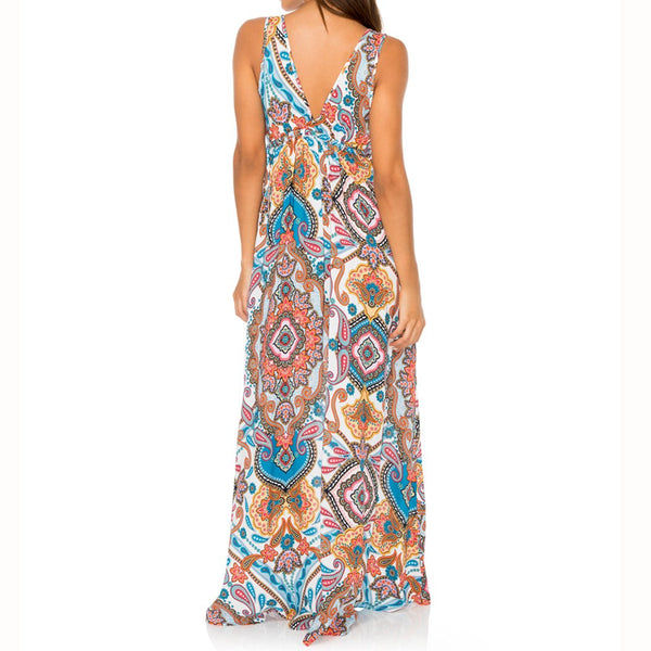 MAESTRANZA - V Neck Long Dress