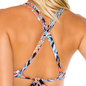 MAESTRANZA - Molded Push Up Bandeau Halter Top
