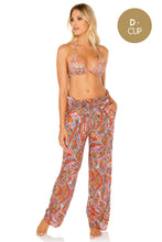 ANDALUZ - Triangle Halter Top & Paper Bag Pants • Multicolor