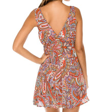 ANDALUZ - V Neck Short Dress