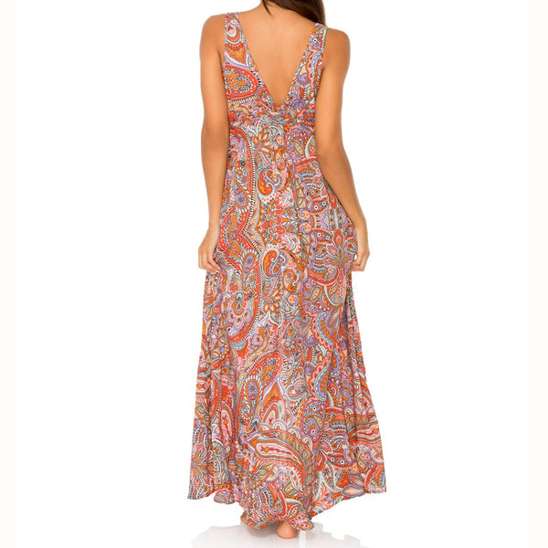 ANDALUZ - V Neck Long Dress