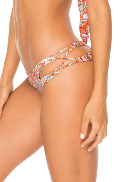 ANDALUZ - Free Form Bandeau & Reversible Zig Zag Open Side Moderate Bottom • Multicolor