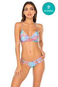 LA MEZQUITA - Underwire Top & Reversible Zig Zag Open Side Moderate Bottom • Multicolor