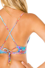 LA MEZQUITA - Cross Back Bustier Top & Strappy Brazilian Ruched Back Bottom • Multicolor