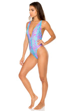MAR Y SAL - Deep V Crossed Back One Piece • Multicolor