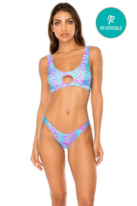 MAR Y SAL - Tank Bralette & High Leg Brazilian Bottom • Multicolor