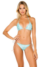 ALMERIA - Triangle Top & Wavey Ruched Back Brazilian Tie Side Bottom • Multicolor