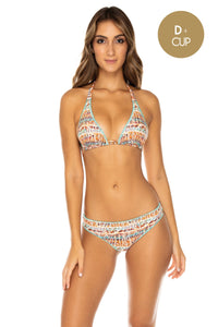 ALMERIA - Triangle Halter Top & Seamless Full Ruched Back Bottom • Multicolor