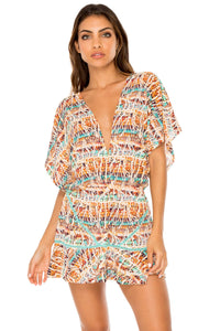 ALMERIA - Playera Ruffle Dress • Multicolor