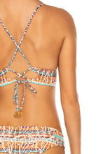 ALMERIA - Cross Back Bustier Top & Stitched Straps Moderate Bottom • Multicolor