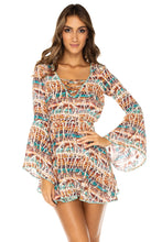 ALMERIA - Bell Sleeve Dress • Multicolor