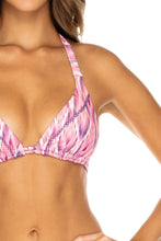 CADIZ - Triangle Halter Top & Full Bottom • Multicolor