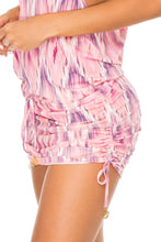 CADIZ - T Back Mini Dress • Multicolor