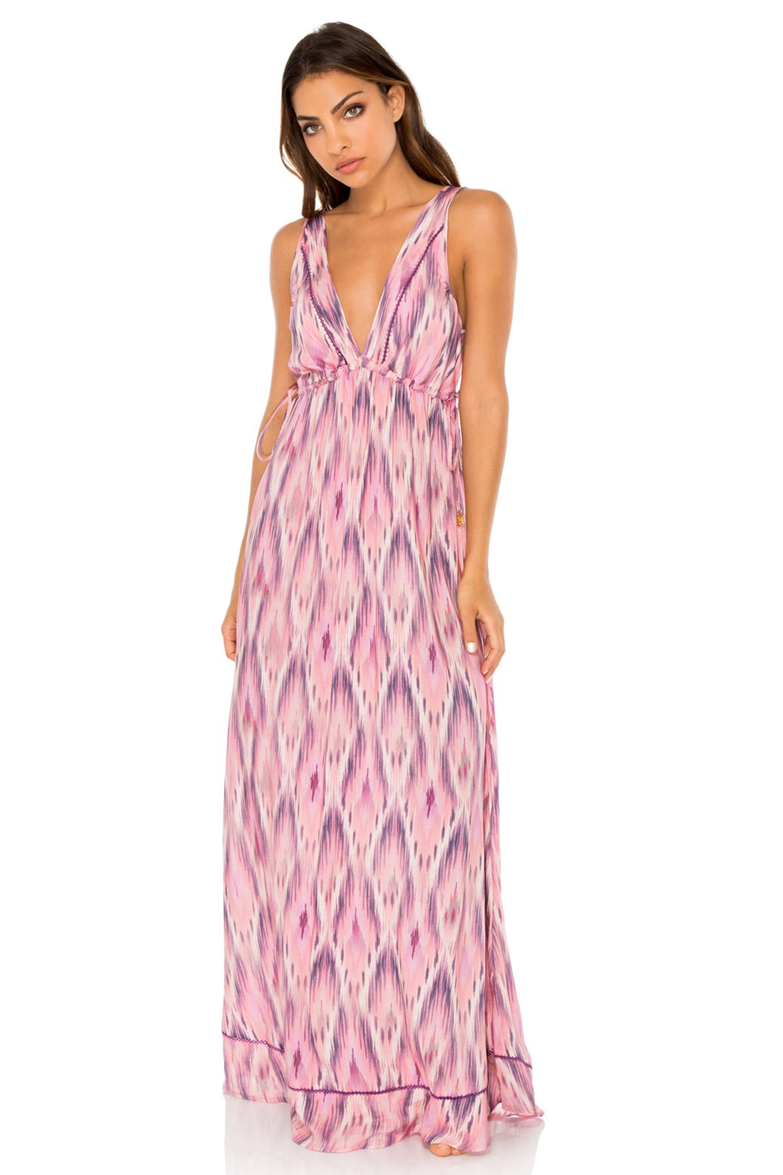 CADIZ - Boho Maxi Dress • Multicolor