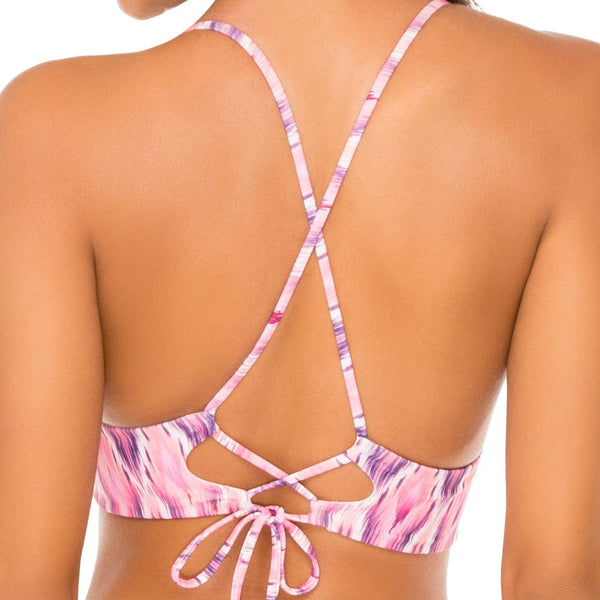 CADIZ - Halter Cross Back Bustier Top