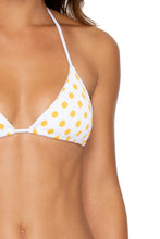 ITSY BITSY - Triangle Top & Wavy Ruched Back Brazilian Tie Side Bottom • Yellow