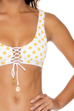 ITSY BITSY - Lace Up Bralette & Brazilian Bottom • Yellow