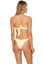ITSY BITSY - Free Form Bandeau & High Leg Brazilian Bottom • Yellow
