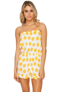 ITSY BITSY - Strapless Ruffle Romper • Yellow