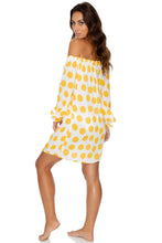 ITSY BITSY - Cuff Bell Sleeve Dress • Yellow