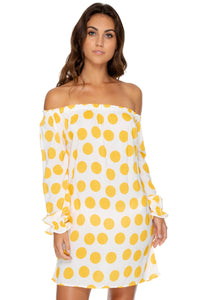 ITSY BITSY - Cuff Bell Sleeve Dress • Yellow (1636922785894)
