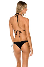 BULERIA - Triangle Top & Wavey Ruched Back Brazilian Tie Side Bottom • Black