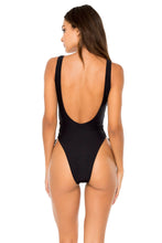 BULERIA - Open Side One Piece Bodysuit • Black