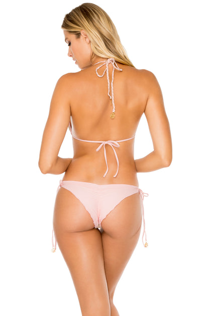 GITANA - Triangle Top & Wavey Ruched Back Brazilian Tie Side Bottom • Multicolor
