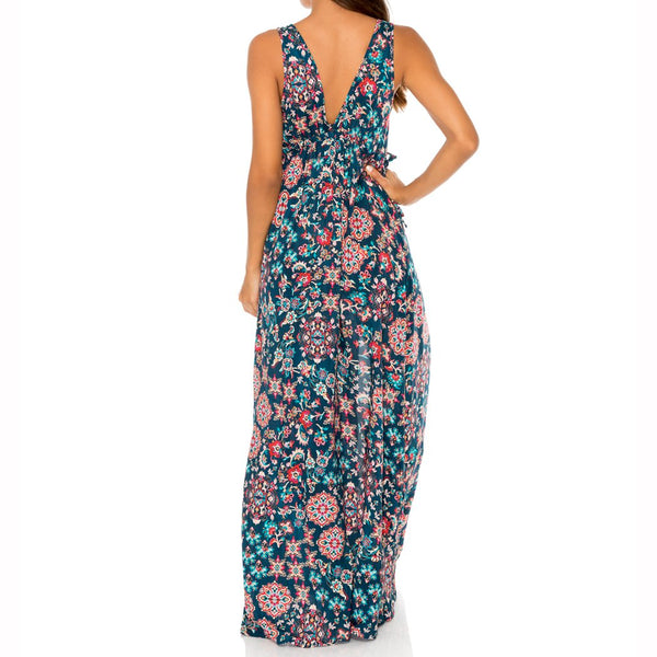 CORDOBA - V Neck Long Dress