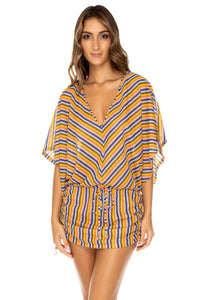 PLAZA ESPAÑA - Cabana V Neck Dress • Multicolor