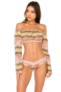 PONDEROSA - Tropicana Shoulder Top & Moderate Bottom • Multicolor