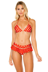 MACARENA - Wavey Triangle Top & Ruffle Mess Divided Full Bottom • Ole Red