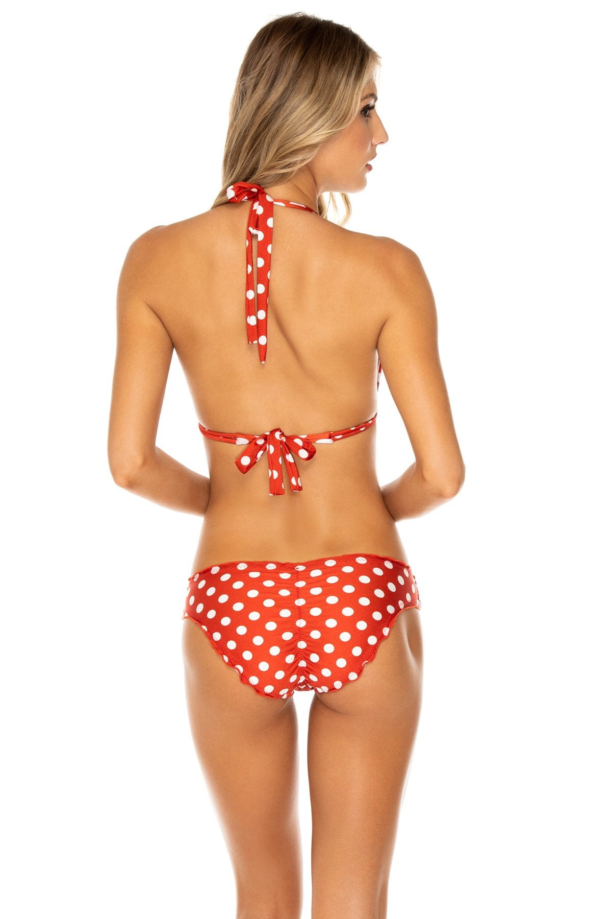 MACARENA - Triangle Halter Top & Seamless Full Ruched Back Bottom • Ole Red