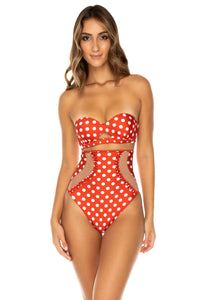 MACARENA - Underwire Bandeau Top & High Waist Corset Bottom • Ole Red