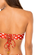 MACARENA - Underwire Bandeau Top & High Leg Brazilian Bottom • Ole Red