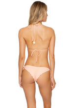 JAGGED BOMBSHELL - Triangle Top & Wavy Ruched Back Brazilian Tie Side Bottom • Peachin