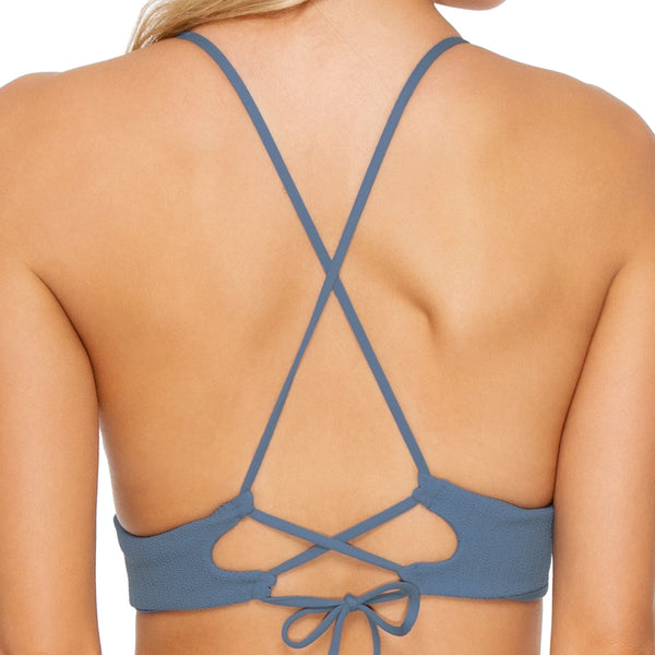 JAGGED BOMBSHELL - Cross Back Bustier Top
