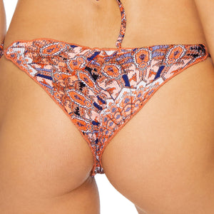 LA REINA DEL SUR - Wavey Ruched Back Brazilian Tie Side Bottom