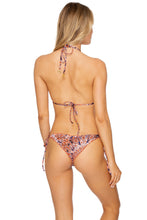 LA REINA DEL SUR - Triangle Top & Wavey Ruched Back Brazilian Tie Side Bottom • Multicolor